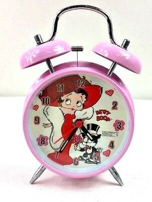Betty Boop Pink Alarm Clock Used in Excellent Condition