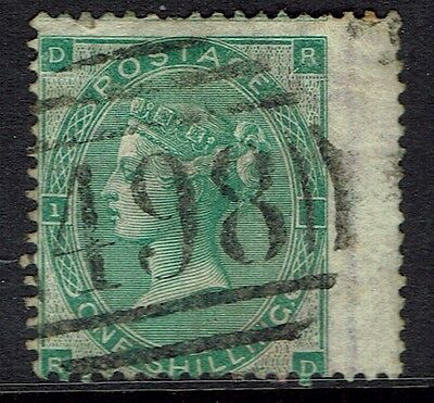 Great Britain, Used, 42A, Deep Green, Plate #1, Large Margin