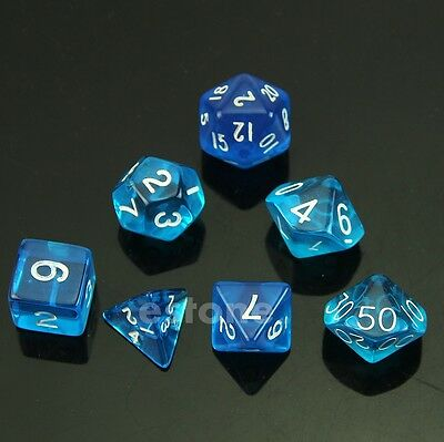 New MTG RPG D&D DND Poly Dice Board Game set of 7 sided die D4 D6 D8 D10 D12 D20