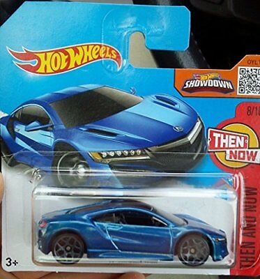 Hot Wheels 2016 #108//250 2017 ACURA NSX blue Then and Now Case H New Casting