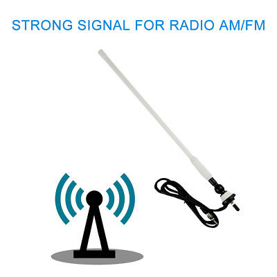 Marine FM AM Radio Antenna Rubber Duck Dipole Flexible Mast for Boat Car ATV UTV
