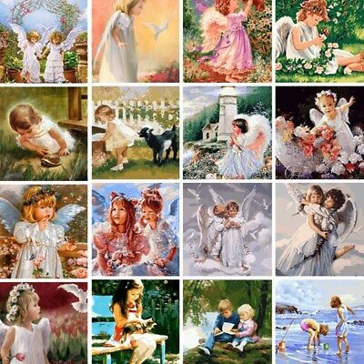 Angel Kids Paint By Number Kit DIY Acrylic Oil Painting On Canvas Art Home Decor