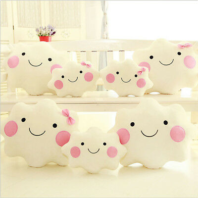 Cloud Shaped Cushion Pillow Soft Toy Baby Nursery Childrens Kids Bed Bedroom TSU