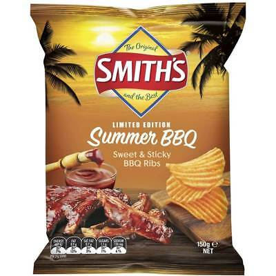 Smith's Crinkle Cut Chips Bbq Ribs - 150g