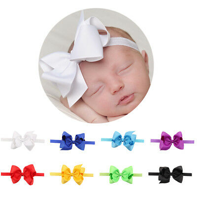 Baby Girls Kids Headband Big Bow Tie Knot Hariband Stretch Hair Band Accessories