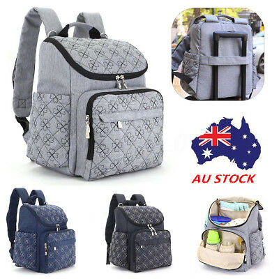 AU Large Mummy Maternity Baby Nappy Diaper Bag Travel Backpack Nursing Bags NEW