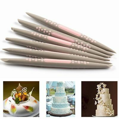 6PCS/Set Baking Pastry Tools Silicone Sugarcraft Cake Carving Pen Modeling Pen