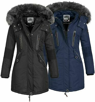 Anapurna by Geographical Norway Damen Winter Jacke Parka Mantel Fell Kapuze