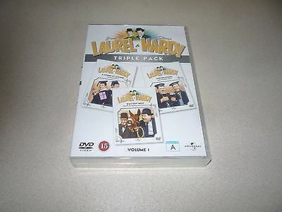 Laurel And Hardy : Dvd  Box Set Triple Pack Brand New And Sealed Volume 1
