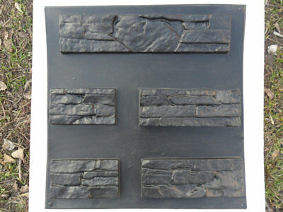 SET 2  Plastic Form for artificial stone East  Molds Concrete Plaster wall stone
