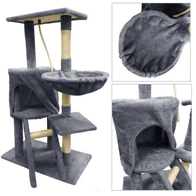 Lovely Cat Scratching Post Tree Activity Centre Bed Scratcher Cradle Apartment