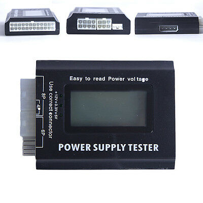 Computer PC LCD Power Supply Tester Checker Diagnose 20/24 Pin 4 SATA HDD Tester