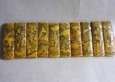 antique Bamboo slips pornography diagram in ancient China