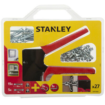 Stanley Metal Hollow Wall Anchor Screws & Fittings Setting Tool Assorted Fixings