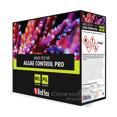 Red Sea Algae Control Pro Test Kit Marine Reef No3 Po4 Aquarium Fish Tank Coral