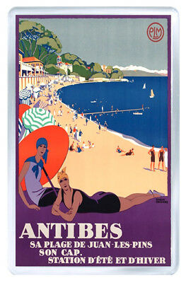 Antibes France Vintage Repro Fridge Magnet Souvenir Iman Nevera