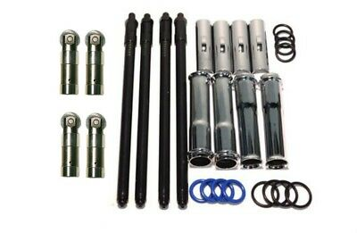 Adjustable Pushrods Tube Covers & O Rings w/ Tappets Lifters Kit Harley Twin Cam