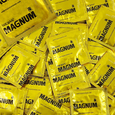 Trojan MAGNUM Large condoms Lubricated Larger King size Wider * FREE Shipping *