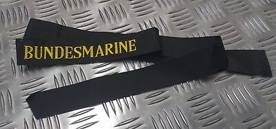 "Genuine German Navy Issue ""Bundesmarine"" Cap / Pork Pie Tally Ribbon"
