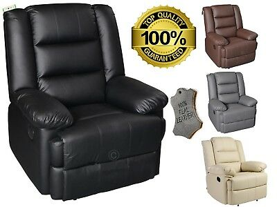 Leather Electric Recliner Real Bonded Leather Auto Armchair Furniture Home Sofa
