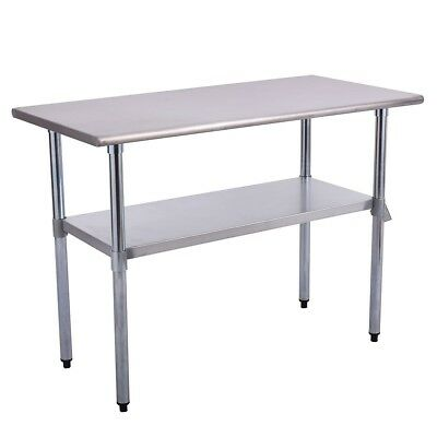"24"" x 48"" Stainless Steel Kitchen Restaurant Dining Room Work Table Food Desk US"