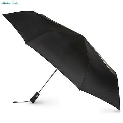 totes Auto Open Close Golf Size Umbrella, Black, One Size