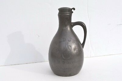 Antique Silver Plated Liquor Jug Homan Silver Plate Co. New Haven, Connecticut