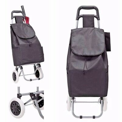 Rolling Foldable Trolley Shopping Utility Cart Grocery Waterproof Stair Climber
