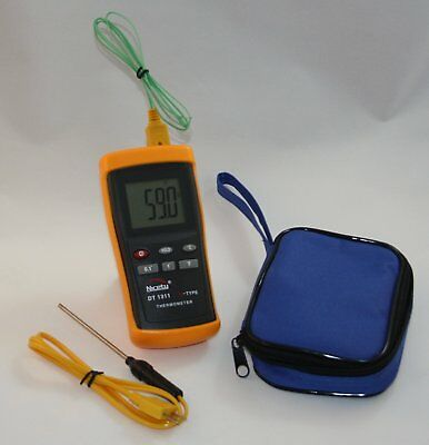 Digital Scientific K-type Thermocouple Thermometer with 1 Sensor Wire Probe and