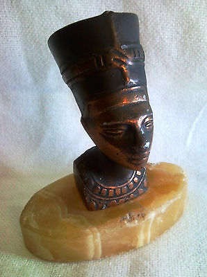 Nefertiti Egyptian Queen Royal Pharaoh Wife Statue Sculpture Egypt Bronze Marble