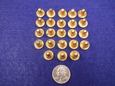 #6, Lot Of 23 Nos Matching Vtg Antique Gold Plated/filled Mens Collar Studs
