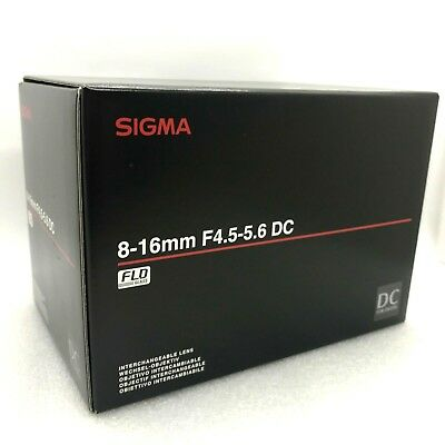 New SIGMA 8-16mm f/4.5-5.6 DC HSM Ultra-Wide Zoom Lens for CANON EF-S Mount