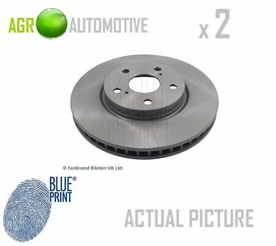 Pair of Rear Brake Disc Fits Toyota Crown Mark X Lexus GS I Blue Print ADT343203