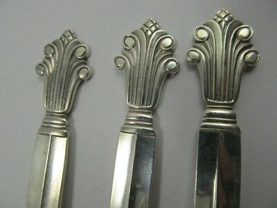 """Georg Jensen Acanthus Sterling 3 Choice Forks 6 5/8"""" Xlnt Condition No Mono"""