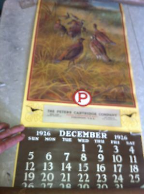 1926Peters Cartidge hunting Calenar, 1982 re-issue  sign
