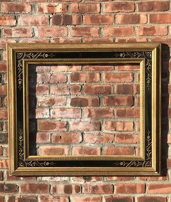"Spectacular 19th C  Eastlake American Aesthetic Picture Frame. 5"" Wide Moldings"
