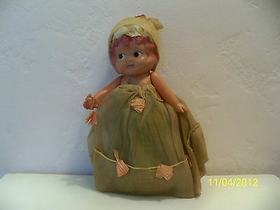 Antique Celluloid Baby Doll Dressed For A Party