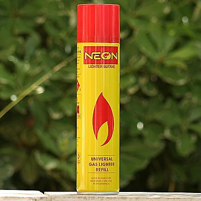 NEON Butane Gas for Torch Lighter 300ML - Cigar Jet Refill Fluid Tank Liter Pipe