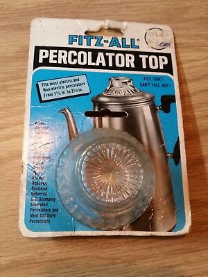 """VINTAGE FITZ-ALL Replacement Percolator Top 1-1/2"""" to 2-1/2"""" Diameter (1980)"""