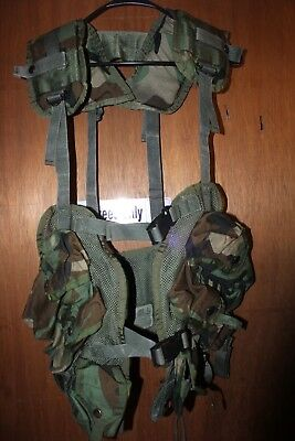 US MILITARY Issue GI TACTICAL LOAD BEARING VEST ENHANCED LBV Woodland A Grade