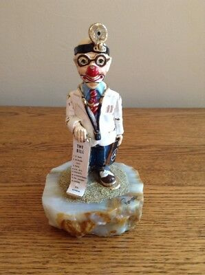 Ron Lee 1986 Doctor Clown Figurine with Mercedes Benz Logo