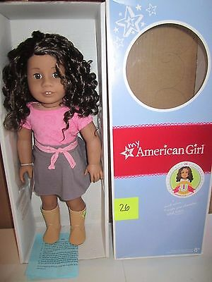 American Girl MYAG  JLY  Doll #26 Med skin,Curly Drk Brn hair Brown Eyes  NIB