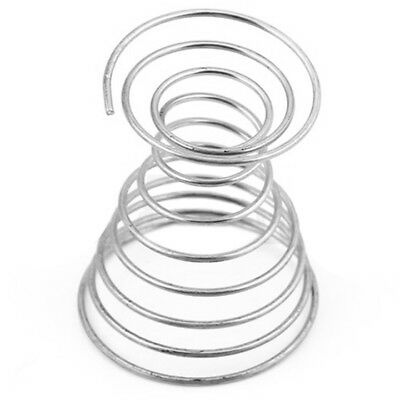 2Pcs Metal Spring Wire Tray Egg Cup Boiled Eggs Holder Stand Storage Silver M6P6