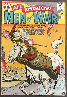All-American Men Of War #105 1964 Nice Vg/vg+ Johnny Cloud Story Novick Cover