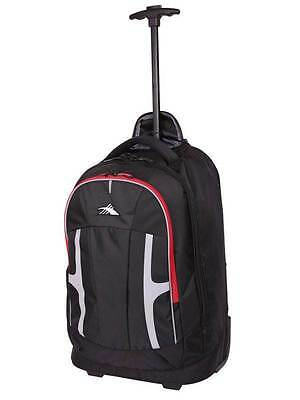 "High Sierra Composite 15.6"" 52cm Wheeled Laptop Backpack Black/Red"