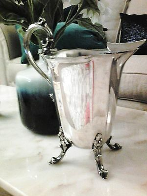 """LB Silverplate vintage ice water pitcher. 16"""" round 9"""" tall. excellent condition"""