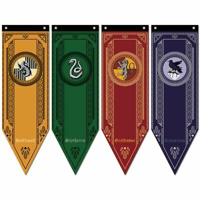 Harry Potter Banner Gryffindor Slytherin Ravenclaw Hufflepuff Haus Flagge Decor