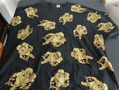 Tasmanian TAZ Devil LOONEY TUNES Freeze Size 5XL Shirt FREE SHIPPING Black Gold