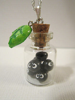 Adorable Totoro Spirited Away Soot Sprite Bottle Necklace Cosplay Charm Pendant