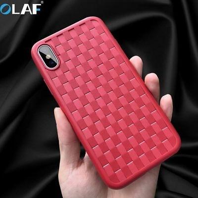 Ultrathin Knit style Soft TPU Silicone Case Cover Full Protective For iPhone X
